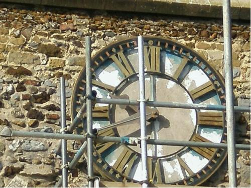 Gilded Clock Face Before