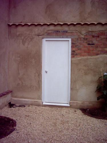 Woodgraining on Door Before